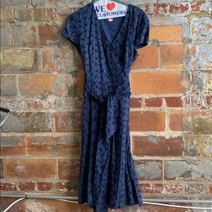 Talbots Navy wrap dress